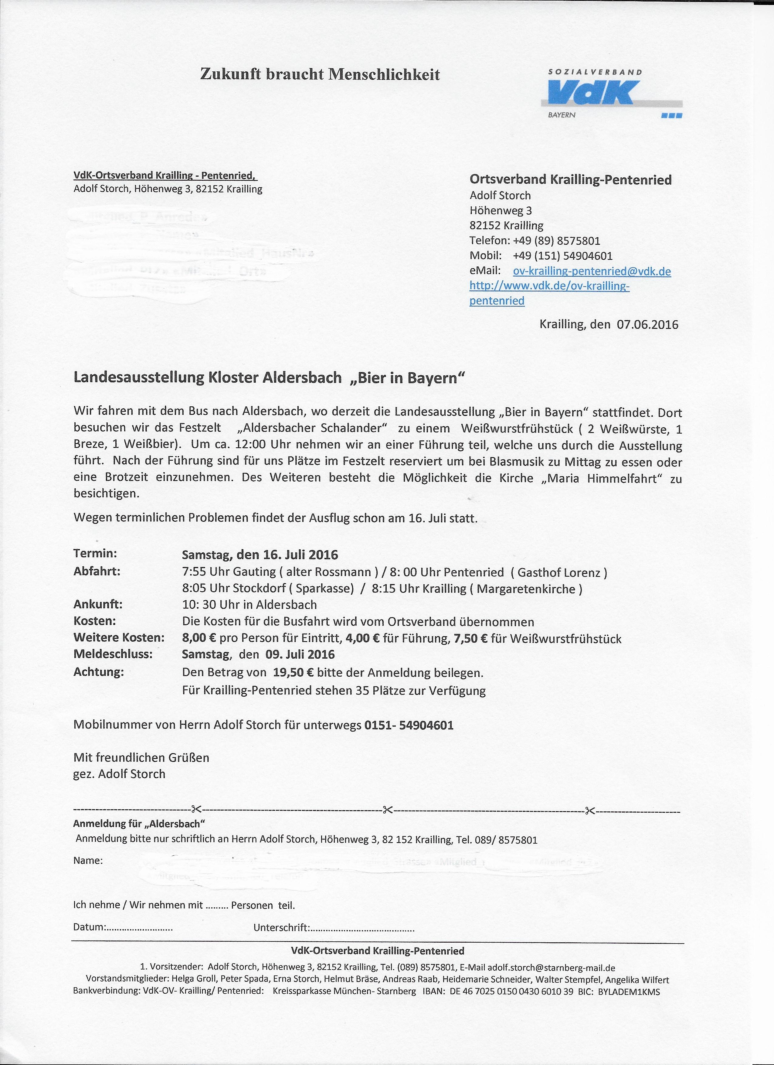 VdK-Einladung